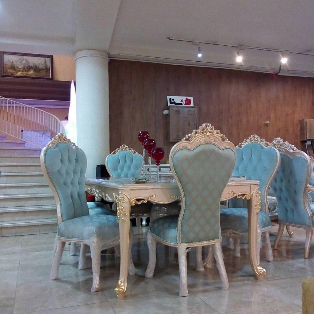 مبل و میز ناهار خوری سلطنتی برلیان |مبل خاورمیانه شیراز|صندلی|مبل راحتی||مبل سلطنتی|مبل اقساطی| چوب سنگ مشهد|مبلمان اتاق خواب|سرویس اتاق خواب|فروش اقساطی|بحرانی|مبلمان