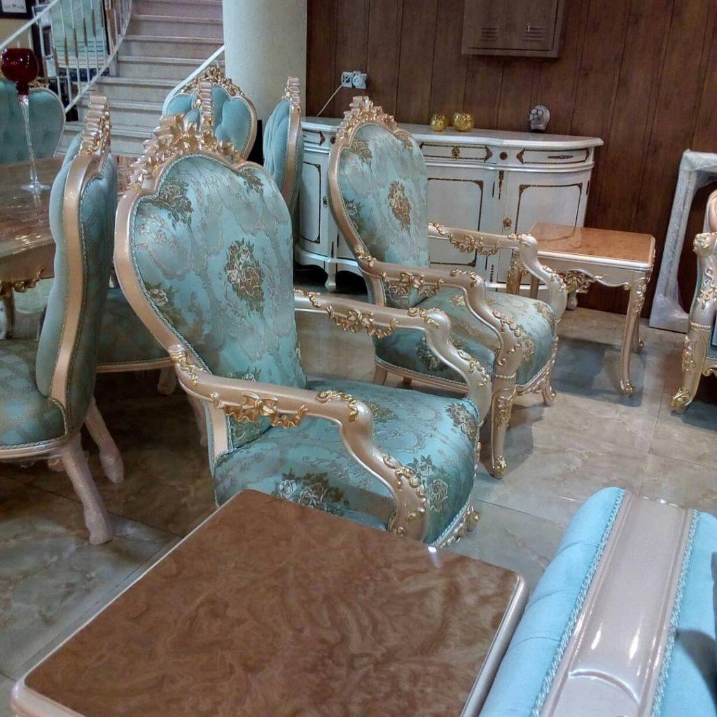 مبل و میز ناهار خوری سلطنتی برلیان|مبل خاورمیانه شیراز|صندلی|مبل راحتی||مبل سلطنتی|مبل اقساطی| چوب سنگ مشهد|مبلمان اتاق خواب|سرویس اتاق خواب|فروش اقساطی|بحرانی|مبلمان